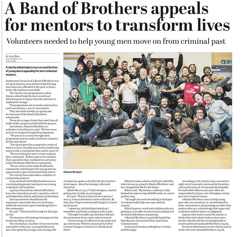 Eastbourne's abandofbrothers Appeals for Mentors