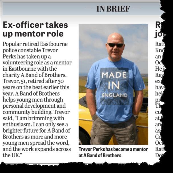 Mentor and ex police officer, Trevor Perks.
