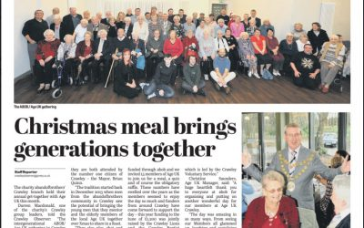 Crawley Observer: Christmas meal brings generations together