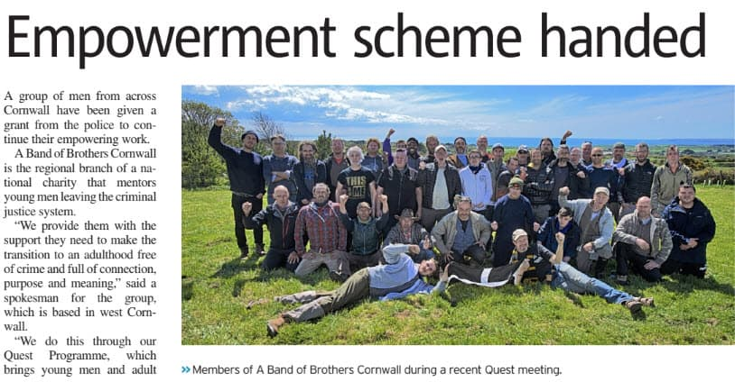 Cornwall abob receive £4,000 grant from police.